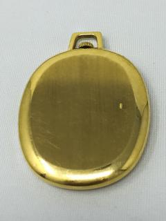 Rolex Rare 1970 80s 18Kt YG Rolex Cellini Pocket Watch w Satin Blue Pyramid Dial - 518787