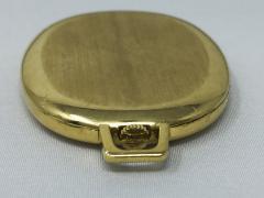 Rolex Rare 1970 80s 18Kt YG Rolex Cellini Pocket Watch w Satin Blue Pyramid Dial - 518789