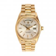 Rolex Rolex Gold President Watch Spanish Day Wheel and Bark Finish Ref 1807 1962 - 181451