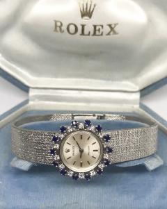 Rolex Rolex Rare 1960s 18 Kt White Gold Sapphire Diamond Wristwatch - 867410
