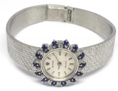 Rolex Rolex Rare 1960s 18 Kt White Gold Sapphire Diamond Wristwatch - 867413