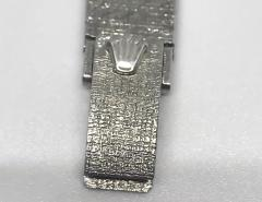 Rolex Rolex Rare 1960s 18 Kt White Gold Sapphire Diamond Wristwatch - 867421
