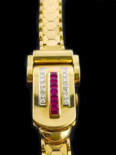 Rolex Rolex Rare Retro 1950s Vintage Ruby Diamond Bracelet Wristwatch - 867443