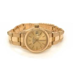 Rolex Watch Co ROLEX DATE OYSTER 18K YELLOW GOLD LADIES 26MM DIAL WATCH - 1744630