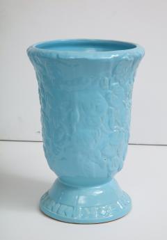 Roseville Pottery Large Scale Sky Blue Art Deco Planters Vases - 1240822