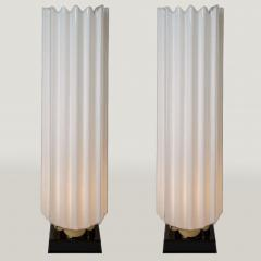 Rougier Pair of 1970s fluted lamps by Rougier - 1202903