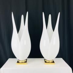 Rougier Pair of Tulip Lamps by Rougier - 557718