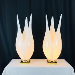 Rougier Pair of Tulip Lamps by Rougier - 557720