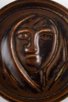 Royal Copenhagen Ceramic plaque brown glaze - 1357013