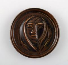 Royal Copenhagen Ceramic plaque brown glaze - 1357015