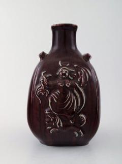 Royal Copenhagen Ceramic vase in ox blood glaze - 1357019