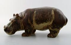 Royal Copenhagen Figure in stoneware in the form of a Hippo No 20182 - 1227249