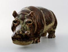 Royal Copenhagen Figure in stoneware in the form of a Hippo No 20182 - 1227266