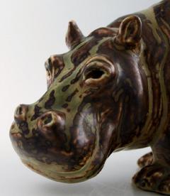 Royal Copenhagen Figure in stoneware in the form of a Hippo No 20182 - 1227267
