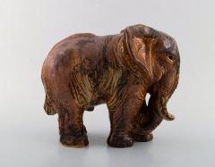 Royal Copenhagen Knud Kyhn for Royal Copenhagen Large elephant in glazed stoneware - 1226828