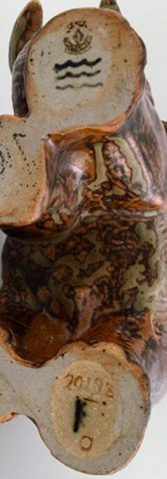 Royal Copenhagen Knud Kyhn for Royal Copenhagen Large elephant in glazed stoneware - 1226852