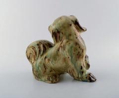 Royal Copenhagen Knud Kyhn for Royal Copenhagen stoneware figure pekingese Light sung glaze - 1226967