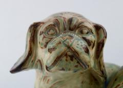 Royal Copenhagen Knud Kyhn for Royal Copenhagen stoneware figure pekingese Light sung glaze - 1226968