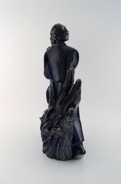 Royal Copenhagen Large and impressive sculpture in glazed ceramics - 1226868