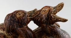 Royal Copenhagen Large pottery figure no 20281 Ducks - 1357065
