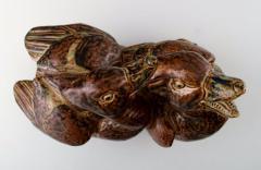 Royal Copenhagen Large pottery figure no 20281 Ducks - 1357072