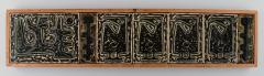 Royal Copenhagen Large wall plaque in the form of seven reliefs decorated with abstract motifs - 1226974