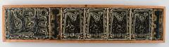 Royal Copenhagen Large wall plaque in the form of seven reliefs decorated with abstract motifs - 1226993