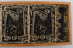 Royal Copenhagen Large wall plaque in the form of seven reliefs decorated with abstract motifs - 1226996
