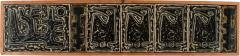 Royal Copenhagen Large wall plaque in the form of seven reliefs decorated with abstract motifs - 1227166