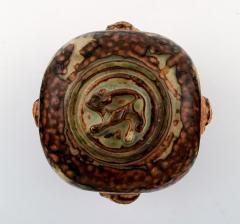 Royal Copenhagen Lidded vase in stoneware sung glaze - 1361351