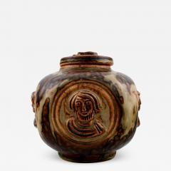 Royal Copenhagen Lidded vase in stoneware sung glaze - 1362829