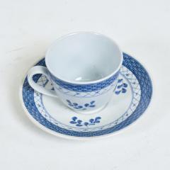 Royal Copenhagen ROYAL Copenhagen Coffee Tea Cup Saucer Set for 12 Blue Danish Modern 1960s - 1898003