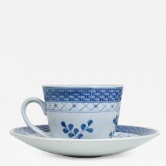 Royal Copenhagen ROYAL Copenhagen Coffee Tea Cup Saucer Set for 12 Blue Danish Modern 1960s - 1899887