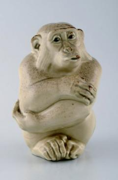 Royal Copenhagen Rare Knud Kyhn for Aluminia Royal Copenhagen Stoneware figure Monkey - 1226973
