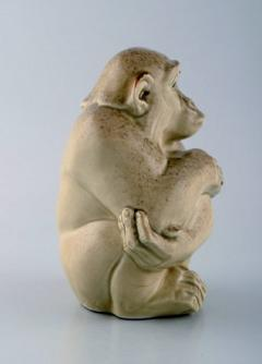Royal Copenhagen Rare Knud Kyhn for Aluminia Royal Copenhagen Stoneware figure Monkey - 1226988