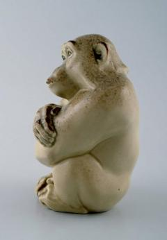 Royal Copenhagen Rare Knud Kyhn for Aluminia Royal Copenhagen Stoneware figure Monkey - 1226990
