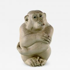 Royal Copenhagen Rare Knud Kyhn for Aluminia Royal Copenhagen Stoneware figure Monkey - 1227164