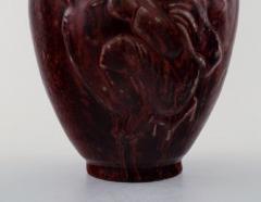 Royal Copenhagen Royal Copenhagen Jais Nielsen ceramic vase in ox blood glaze - 1226999