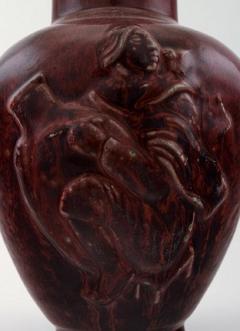 Royal Copenhagen Royal Copenhagen Jais Nielsen ceramic vase in ox blood glaze - 1227001