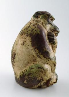 Royal Copenhagen Stoneware figure monkey Sung glaze - 1357005
