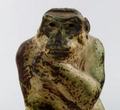 Royal Copenhagen Stoneware figure monkey Sung glaze - 1357007