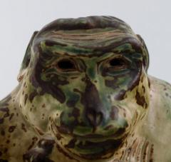 Royal Copenhagen Stoneware figure monkey Sung glaze - 1357009