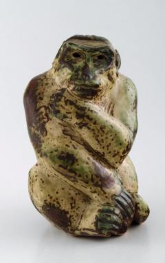 Royal Copenhagen Stoneware figure monkey Sung glaze - 1357014