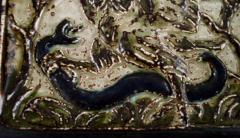 Royal Copenhagen Wall plaque in glazed stoneware with eagle and snake in relief - 1356966