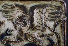Royal Copenhagen Wall plaque in glazed stoneware with eagle and snake in relief - 1356970
