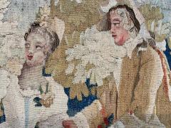Royal Manufacture of Aubusson Sublime Aubusson Tapestry 18th Century Louis XVI Period Romantic Scene - 1307107
