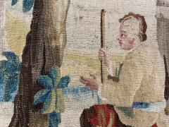 Royal Manufacture of Aubusson Sublime Aubusson Tapestry 18th Century Louis XVI Period Romantic Scene - 1307108