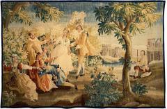 Royal Manufacture of Aubusson Sublime Aubusson Tapestry 18th Century Louis XVI Period Romantic Scene - 1307475