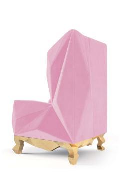 Royal Stranger Velvet Pink Armchair by Royal Stranger - 1273148