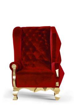 Royal Stranger Velvet Pink Armchair by Royal Stranger - 1273152